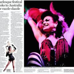 Australians at the Paris Burlesque Festival (Sydney Morning Herald)